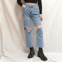 Semi Straight Damage Jeans