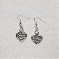 予約注文受付11/26-12/22[Hand made]Heart Cross Chain Earrings  のコピー