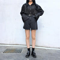 [ Unisex ] Black Cuff Shirt