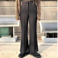 Slim Boot-cut Slacks Pants  2