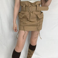 Belt Cargo Skirt  ( 2color )