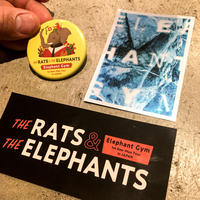 Elephant Gym Sticker&Badge Set