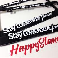 2枚【Happy Stance ナンバーフレーム】(USサイズ)