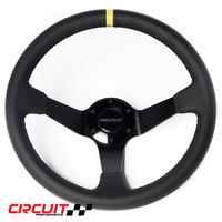【Circuit Performance ステアリングホイール BLK&Yellowストライプ】