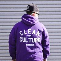 【clean culture パーカー 黒&紫】