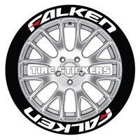4枚【Falken タイヤステッカー RED】