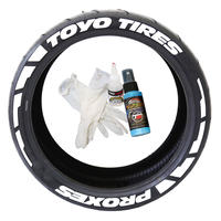 【Toyo Tires  PROXES タイヤステッカー Frost Edition ラバータイプ(Permanent)】
