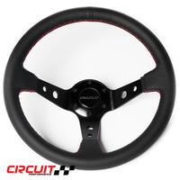 【Circuit Performance ステアリングホイール BLK&Redステッチ】