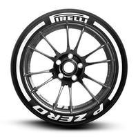 【Pirelli P ZERO ストライプ タイヤステッカー 8枚セット ラバータイプ】