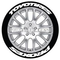 【Toyo Tires PROXES 太文字 タイヤステッカー ラバータイプ(Permanent)】