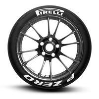 【Pirelli P ZERO タイヤステッカー 8枚セット ラバータイプ】