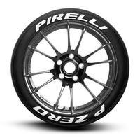 【Pirelli P ZERO スペルアウト タイヤステッカー 8枚セット ラバータイプ】