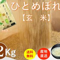 岩手県雫石産ひとめぼれ たんたん米 【玄米】 2Kg/袋【送料無料】