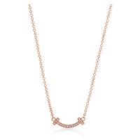 Tiffany Tスマイルマイクロペンダント 18kローズゴールド ダイヤモンド