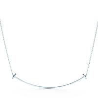 Tiffany T スマイルペンダント ラージ シルバー