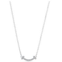 Tiffany Tスマイルマイクロペンダント 18kホワイトゴールド ダイヤモンド