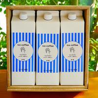 アイスコーヒー3本セット 無糖1000mlストレートタイプ