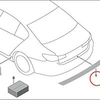 BMW純正部品 F31 3シリーズ ツーリング用トランクシル保護フィルム 3M 透明 傷防止