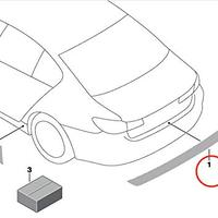 BMW純正部品 G01 X3 シリーズ トランクシル保護フィルム 3M 透明 傷防止