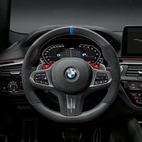 BMW純正///M PERFORMANCE カーボン/レザー ステアリングホイールカバー 艶ありハイグロスタイプ
