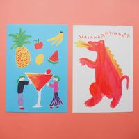 Summer Paradise Postcard Set / 夏のパラダイス・ハガキ4枚セット