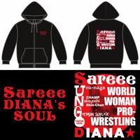 【在庫限り】Sareeeパーカー・ブラック (S-XL)