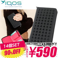 SZ-10-A 【590円×14個SET】iQOS アイコス 専用ケース スタッズ メンズ レディース ポーチ / ブラック×ピンク