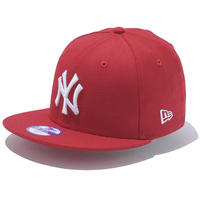 【 NEW ERA / ニューエラ 】 KIDS 9FIFTY ニューヨーク・ヤンキース スナップバック キャップ/スカーレット×ホワイト
