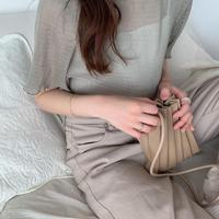pleats mini bag