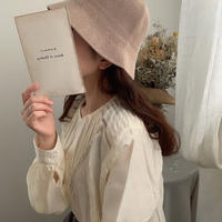linen touch backet hat