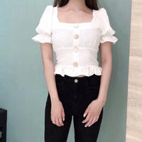 【予約】square silky BL / white