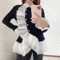 lovely frill cardigan