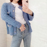 PEARL BOTTUN KNIT cardigan / 3color