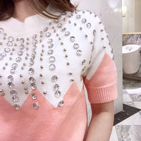 【即納】sparkle drop knit