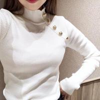 gold button lib knit / ivory