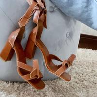 chunky heel stitch sandal / 3color