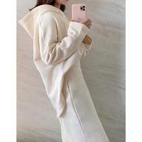裏起毛hoodie skirt SET / 2color