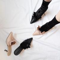 【即納】velvet socks(black/pink)