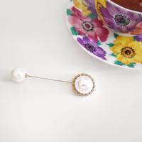 【即納】big  pearl brooch
