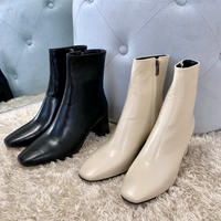 ankle fit boots / 2color