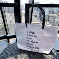 lettering canvas tote / ivory