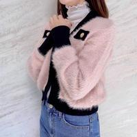 angora kitty cardigan / 2color