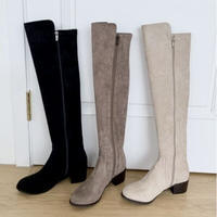 suede knee high boots / 3color