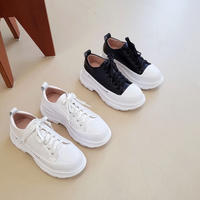 platform leather sneakers / 2color