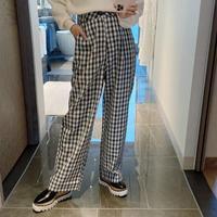 mosaic check pants