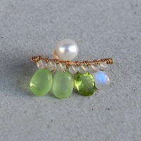 Lime Green  bijou  M-size ピアス 片耳売り  ( Single )