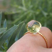 K10 candy ring  -  Lemon quartz-