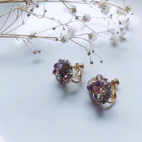 Beas bijou earrings / pink 【A-04】
