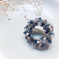 Beas bijou ring brooch / blue