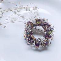 Beas bijou ring brooch / pink